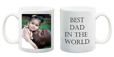 Birthday gift present best Dad in the World mug custom Christmas present your photo