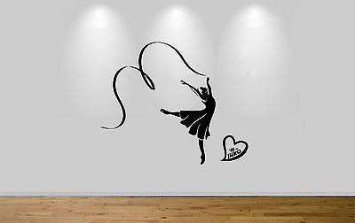 Juko Ballet Wall Sticker Dancer With Ribbon Stylised Decal Wall Art