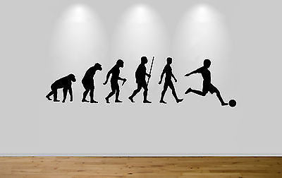 Football Evolution Wall Sticker Decal Bedroom Wall Footballer Evolution - Juko