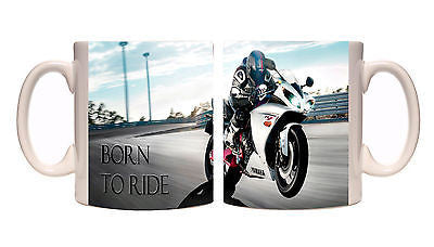Juko Motorbike Mug Born To Ride Cup Gift Idea