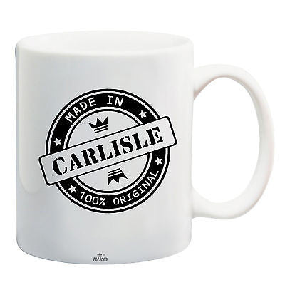 Juko Made In Carlisle Mug 100% Original Coffee Cup Gift Idea