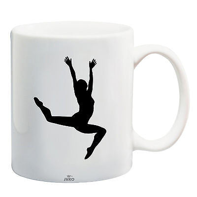 Juko Gymnast With Stars Mug Gymnastic Tea Coffee Cup 1250