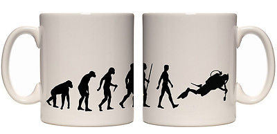 Juko Evolution Ape To Scuba Diver Mug Tea Coffee Evo Cup - Juko
