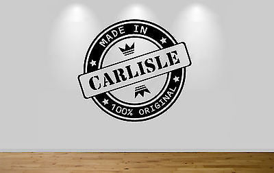 Juko Made In Carlisle Wall Sticker 100% Original Decal