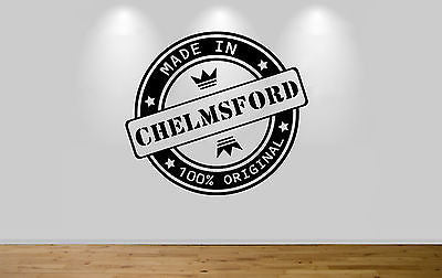 Juko Made In Chelmsford Wall Sticker 100% Original Decal