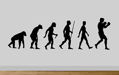 Evolution Ape To Man Boxing Evo Wall Sticker Decal Gym Art - Juko