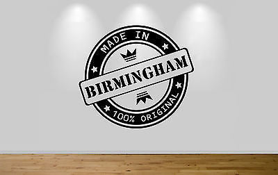 Juko Made In Birmingham Wall Sticker 100% Original Decal