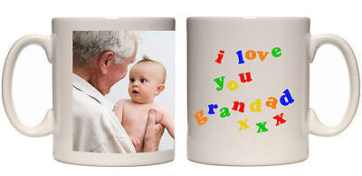 Christmas gift I love you Grandad personalised mug custom xmas present photo mug - Juko