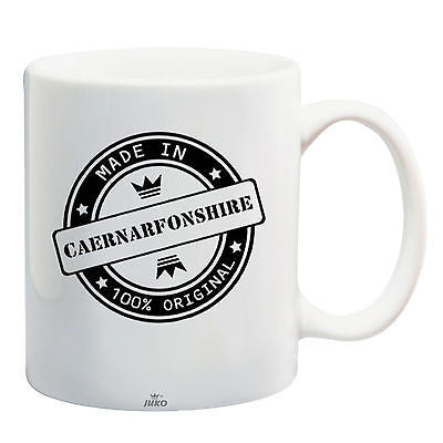 Juko Made In Caernarfonshire Mug 100% Original Coffee Cup Gift Idea