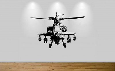 Juko Logo Apache Wall Sticker Helicopter Decal 82cm wide - Juko
