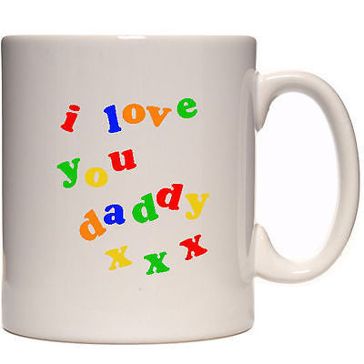 I love you Daddy personalised mug custom present with your photo.