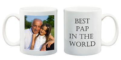 Christmas gift best Pap in the World mug custom present with your photo - Juko