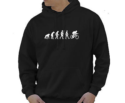 Adult Unisex Kids Evolution Hoodie Ape To Man Evo Cycling Hoody