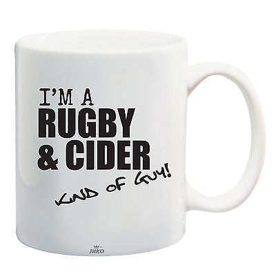 Juko I'm A Rugby And Cider Kind Of Guy World Cup Tea Coffee Mug