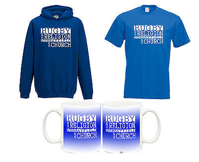 Juko Rugby Is My Religion Murrayfield T Shirt Hoodie & Mug Set World Cup