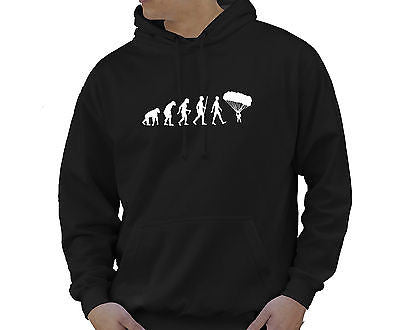 Adult Unisex Kids Evolution Hoodie Ape To Man Evo Parachute Hoody