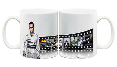 Juko Lewis Hamilton Mug Formula One Film Strip F1 Coffee Cup