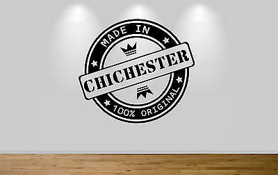 Juko Made In Chichester Wall Sticker 100% Original Decal