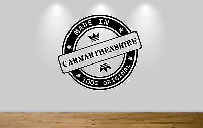 Juko Made In Carmarthenshire Wall Sticker 100% Original Decal