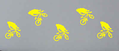 5 boys bedroom bmx wall sticker decal bike wall art