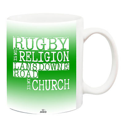 Juko Lansdowne Road Is My Religion Rugby World Cup Tea Coffee Mug