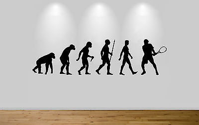Tennis Evolution Wall Sticker Decal Bedroom Wall Tennis Player Evolution