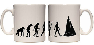 Juko Evolution Ape To Man Sailing Evo Tea Coffee Sailor Cup - Juko