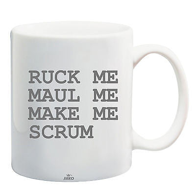 Juko Ruck Me Maul Me Scrum Rugby World Cup Tea Coffee Mug