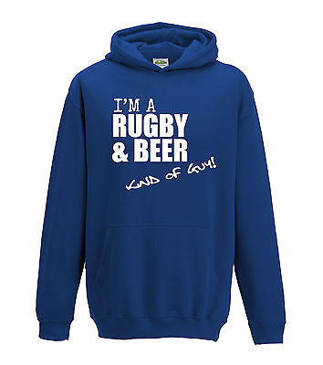 Juko I'm A Rugby And Beer Kind Of Guy Hoodie - Juko