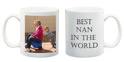 Birthday gift Best Nan in the World mug customised present with your photo