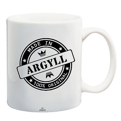 Juko Made In Argyll Mug 100% Original Coffee Cup Gift Idea - Juko