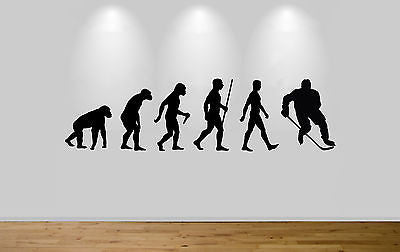 Ice Hockey Evolution Wall Sticker Decal Bedroom Wall Hockey Evolution - Juko