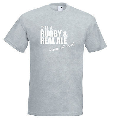 Juko I'm A Rugby And Real Ale Kind Of Guy T Shirt - Juko