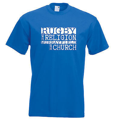 Juko Rugby Is My Religion Murrayfield Is My Church T Shirt