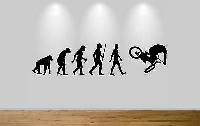 BMX Evolution Wall Sticker Decal Bedroom Wall Bike Evolution - Juko