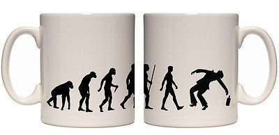 Juko Evolution Ape To Drunk Man Drinking Mug Tea Coffee Evo Cup
