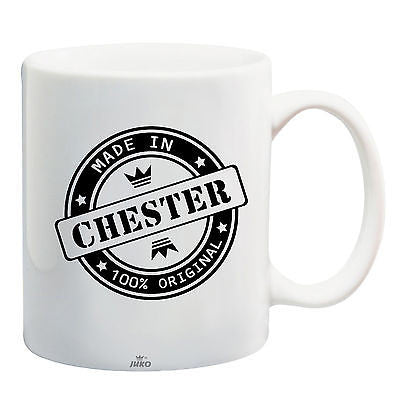 Juko Made In Chester Mug 100% Original Coffee Cup Gift Idea