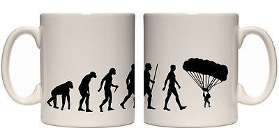 Juko Evolution Ape To Man Parachute Evo Tea Coffee Cup - Juko