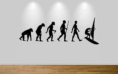 Windsurfer Evolution Wall Sticker Decal Bedroom Art Wind Surfing Evo Ape to Man