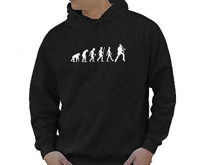 Adult Unisex Kids Evolution Hoodie Ape To Man Evo Guitarist Hoody