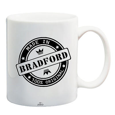 Juko Made In Bradford Mug 100% Original Coffee Cup Gift Idea