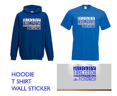 Juko Kids Rugby Is My Religion Murrayfield T Shirt Hoodie & Wall Sticker Set