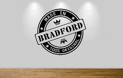 Juko Made In Bradford Wall Sticker 100% Original Decal