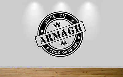 Juko Made In Armagh Wall Sticker 100% Original Decal