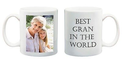 Birthday gift best Gran in the World mug personalised present with your photo