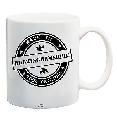 Juko Made In Buckinghamshire Mug 100% Original Coffee Cup Gift Idea