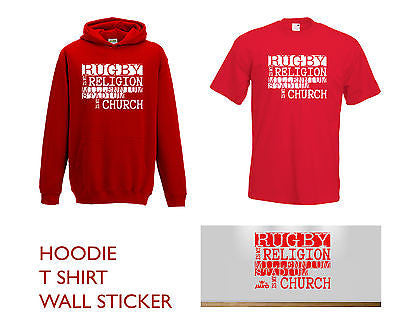 Juko Kids Rugby Is My Religion Millennium Stadium T Shirt Hoodie & Sticker Set