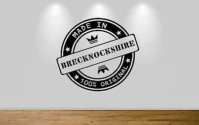Juko Made In Brecknockshire Wall Sticker 100% Original Decal