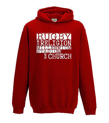 Juko Kids Rugby Is My Religion Millennium Stadium Is My Church Hoodie