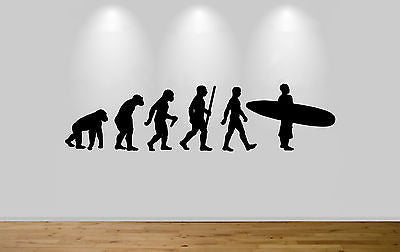 Surfer Walking Evolution Wall Sticker Decal Bedroom Wall surfing Evolution